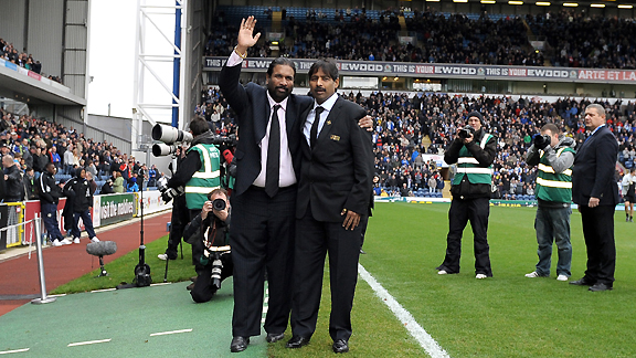 New Blackburn Rovers owners Indian brothers Balaji Rao (L) and Venkatesh Rao (R)