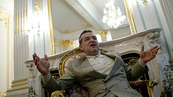 Gigi Becali at his house in Bucharest