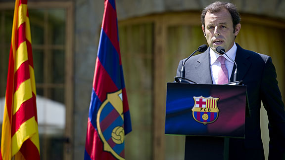 Barcelona president Sandro Rosell