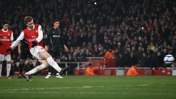 Nicklas Bendtner's last league goal was on April 28, 2012.