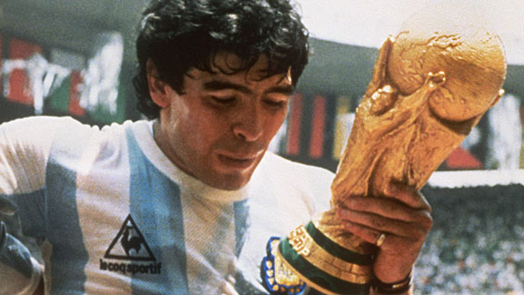 Diego Maradona won the World Cup and Golden Ball award in 1986.