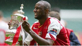 Patrick Vieira played with Arsenal for nine years