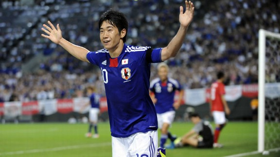 Shinji Kagawa goal Japan v South Korea