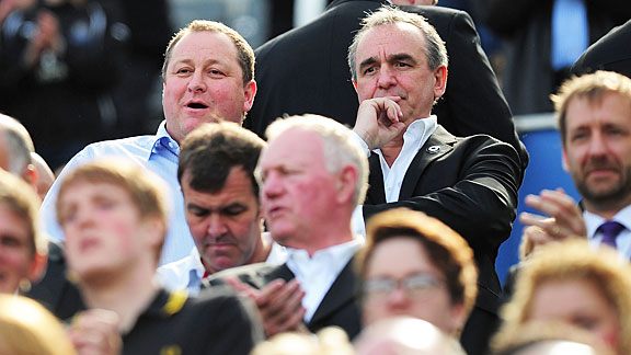 Mike Ashley with Derek Llambias