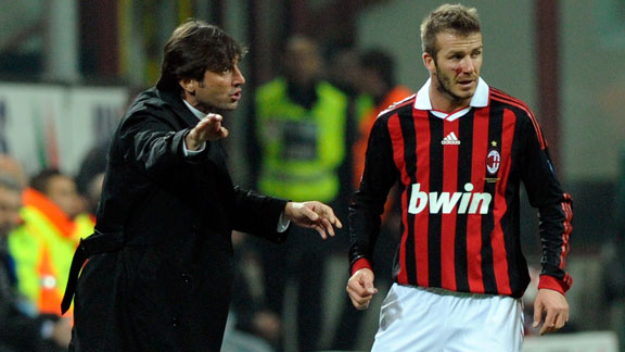 David Beckham and Leonardo AC Milan