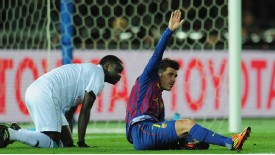 David Villa injury Barcelona