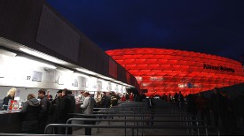 Tickets stalls at Bayern Munich's Allianz Arena