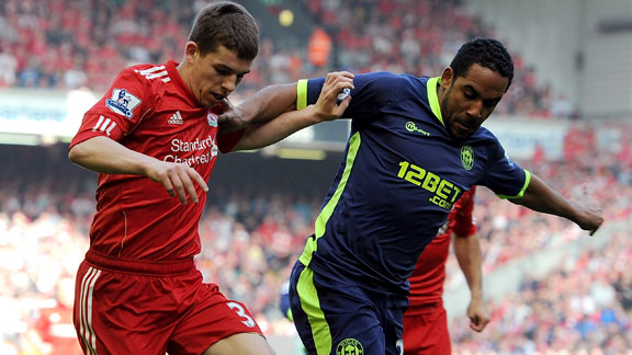 Wigan battle liverpool