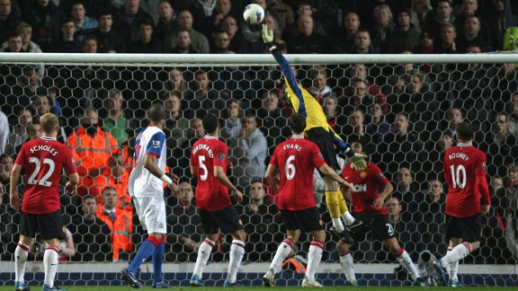 David De Gea produced several good saves in the first half to deny Blackburn