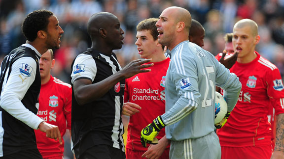 Pepe Reina James Perch clash
