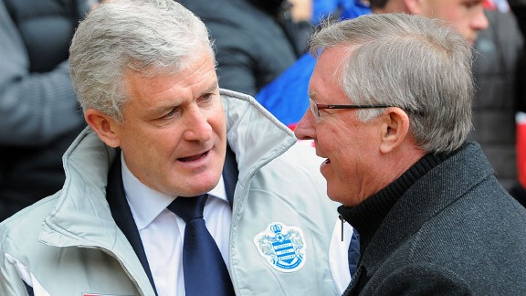 Mark Hughes Sir Alex Ferguson