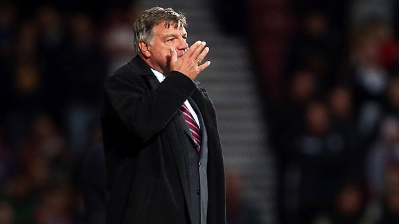 Sam Allardyce is helpless to prevent the capitulation on the touchline at Upton Park