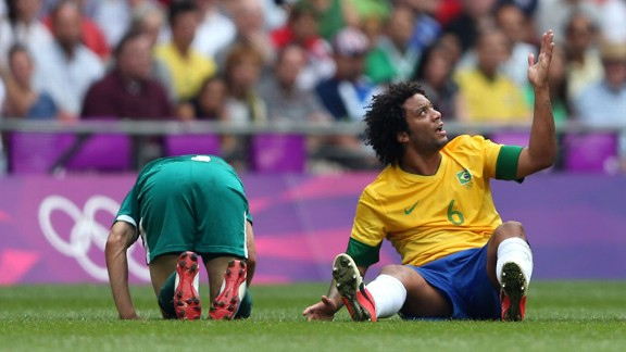 Marcelo: Broke a metatarsal in training with Brazil