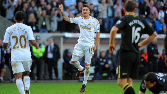 Pablo Hernandez opened the scoring for Swansea