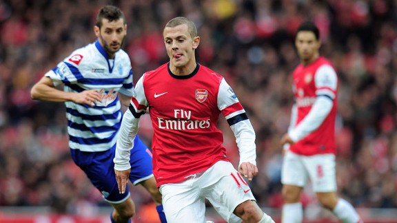 Jack Wilshere made his long-awaited return in the victory over QPR