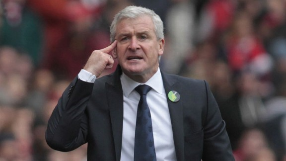 Mark Hughes endured another frustrating day