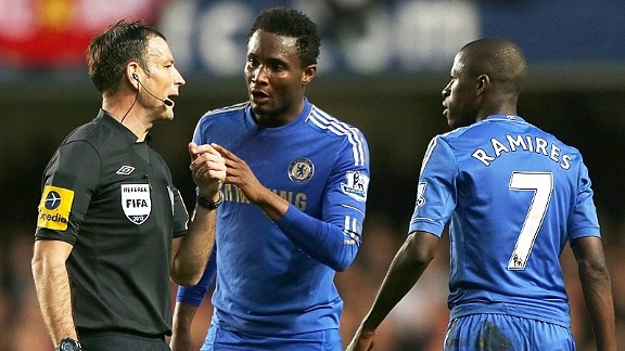 John Obi Mikel is reported to be one of the players making accusations about referee Mark Clattenburg, with Ramires prepared to give evidence