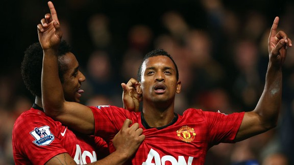 Nani registered Manchester United's third at Chelsea