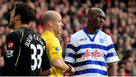 Stephane Mbia red card woe Arsenal v QPR 