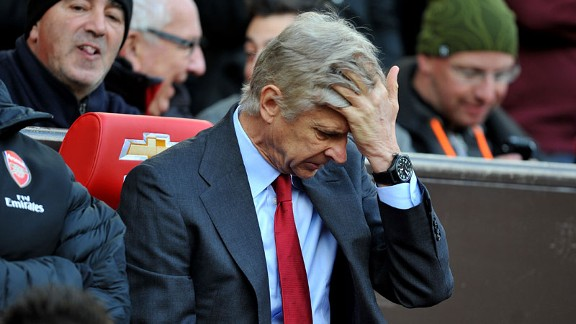 Arsene Wenger during the game against Man United