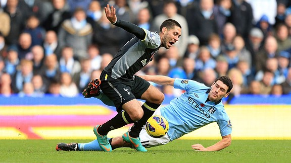 Clint Dempsey was missing in action against Man City