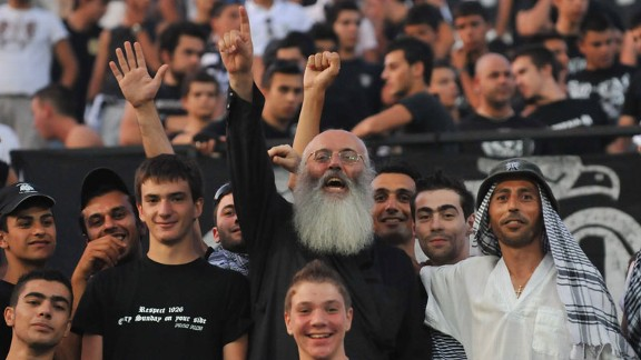 'Papa PAOK' embodies the passion of the club's supporters at the Toumba Stadium