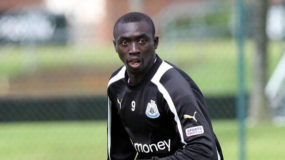 Papiss Cisse was forced to sit out Newcastle's Premier League defeat against Swansea