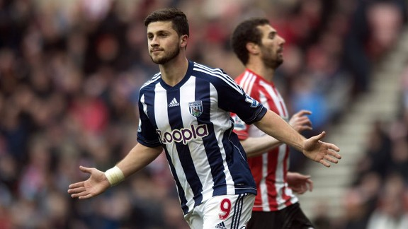 Shane Long celebrates his goal for West Brom against Sunderland