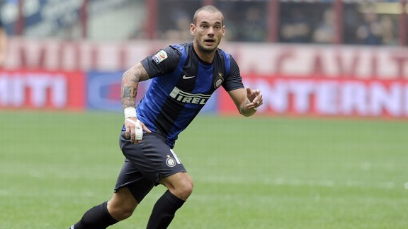Wesley Sneijder is facing an uncertain future with Inter Milan