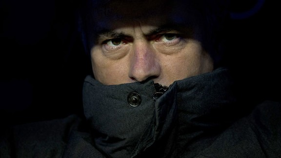 Jose Mourinho dark close up coat