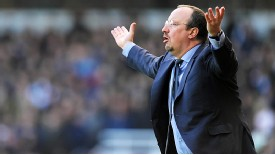 Rafael Benitez is exasperated on the touchline against West Ham