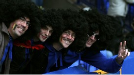 Everton fans show support for Fellaini
