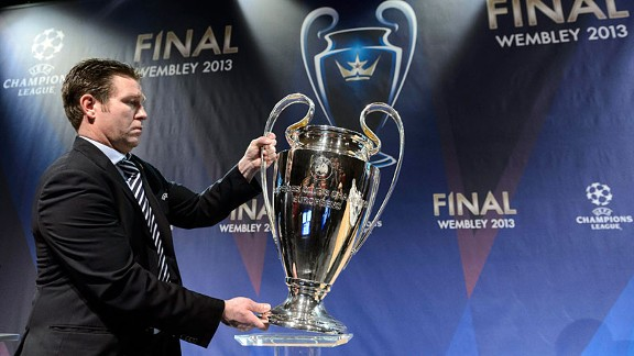 The final prize is given an airing at the Champions League draw