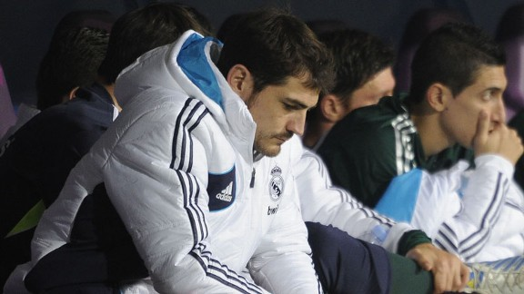 Iker Casillas was dropped to the bench as Real Madrid lost to Malaga