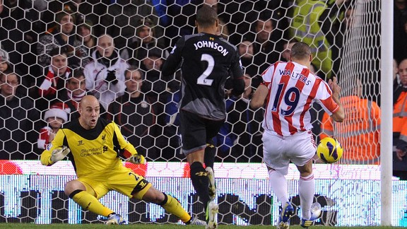 Jonathan Walters bagged a brace for Stoke as they came from behind to win against Liverpool