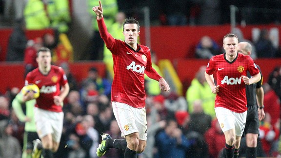 Robin van Persie came off the bench to seal United's victory