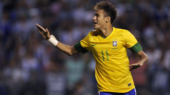 Neymar has been recognised as South America's top player for the past two years