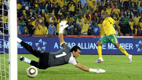 South Africa's marquee striker Katlego Mphela