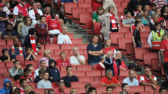 Might be a few more empty seats at Arsenal on Sunday.