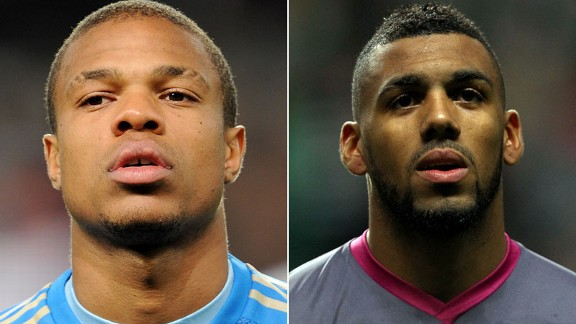 Loic Remy and Yann M'Vila