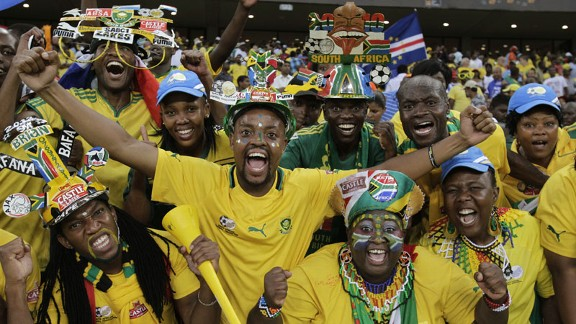 South Africa gave their fans something to cheer with the 2-0 win over Angola