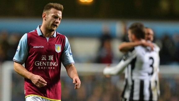 Andreas Weimann shows his frustration at the final whistle as Newcastle celebrate