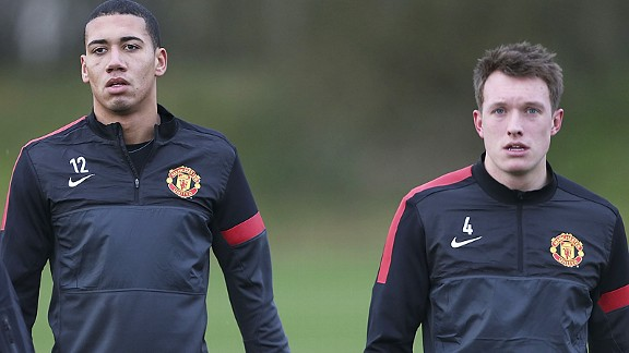 Chris Smalling and Phil Jones could be United's long-term successors to Nemanja Vidic and Rio Ferdinand