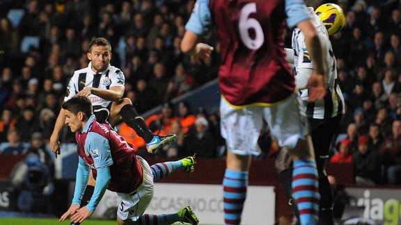 Yohan Cabaye doubles Newcastle's lead at Villa Park