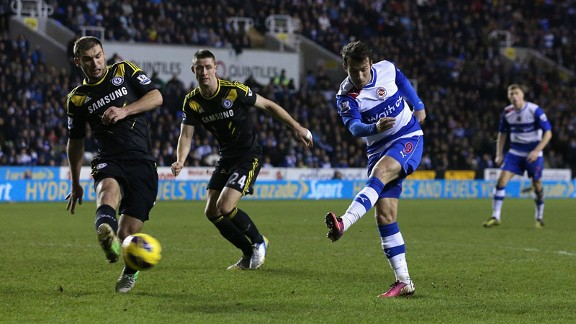 Adam Le Fondre comes off the bench to pull a goal back for Reading