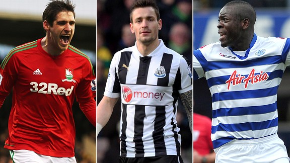 Chris Samba, Mathieu Debuchy and Danny Graham