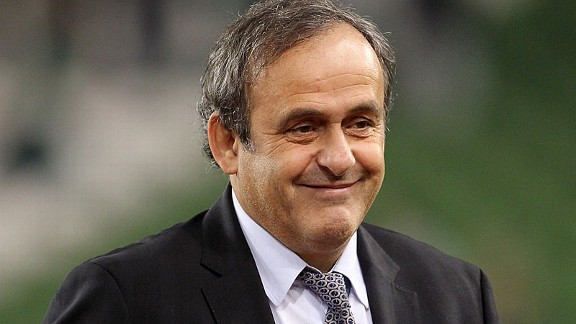 UEFA chief Michel Platini not dressed as a guide