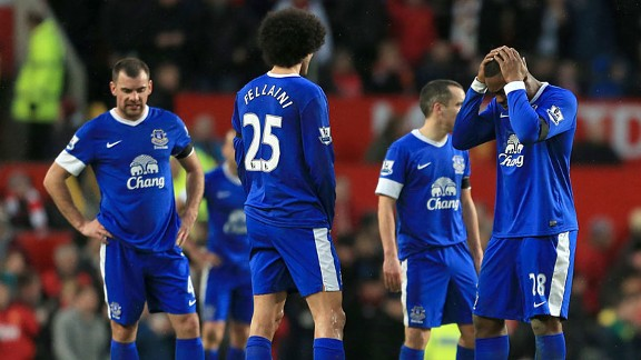 Everton woe Old Trafford