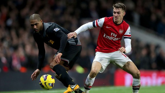 Aaron Ramsey is part of a young British core of players coming through at Arsenal