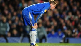 Torres missed a number of chances in Chelsea's draw with Sparta Prague